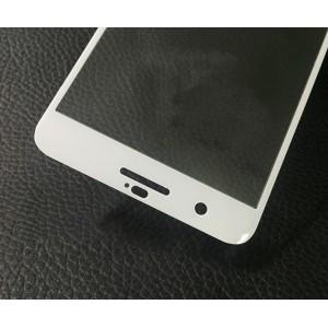 Полноэкранное ультратонкое износоустойчивое сколостойкое олеофобное защитное стекло-пленка для HTC One X10 Белый