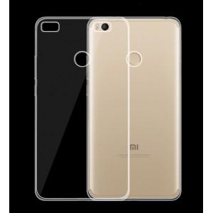 Силиконовый глянцевый транспарентный чехол для Xiaomi Mi Max 2