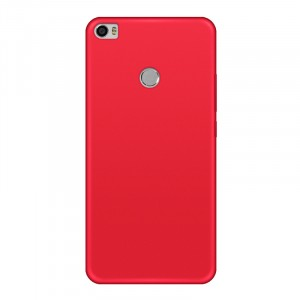 Силиконовый матовый непрозрачный чехол для Xiaomi Mi Max 2 Красный