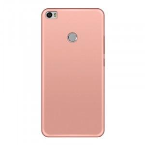 Силиконовый матовый непрозрачный чехол для Xiaomi Mi Max 2 Розовый