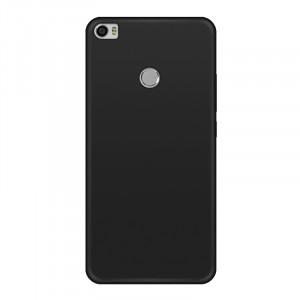 Силиконовый матовый непрозрачный чехол для Xiaomi Mi Max 2 Черный