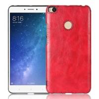 Силиконовый матовый непрозрачный чехол с текстурным покрытием Кожа для Xiaomi Mi Max 2 Красный