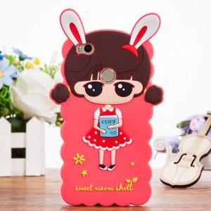 Силиконовый матовый непрозрачный дизайнерский фигурный чехол для Xiaomi Mi Max 2 Красный