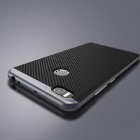 Противоударный двухкомпонентный силиконовый матовый непрозрачный чехол с поликарбонатными вставками экстрим защиты для Xiaomi Mi Max 2 Серый