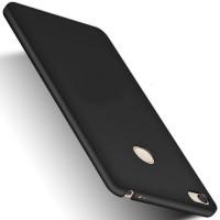 Пластиковый непрозрачный матовый чехол с улучшенной защитой элементов корпуса для Xiaomi Mi Max 2 Черный