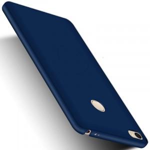 Пластиковый непрозрачный матовый чехол с улучшенной защитой элементов корпуса для Xiaomi Mi Max 2 Синий