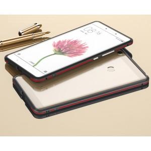 Металлический округлый премиум бампер сборного типа на винтах для Xiaomi Mi Max 2 Красный