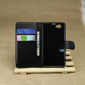 Чехол портмоне подставка на пластиковой основе на магнитной защелке для Sony Xperia Z1 Compact
