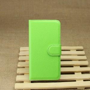 Чехол портмоне подставка на силиконовой основе на магнитной защелке для Sony Xperia Z1 Compact Зеленый