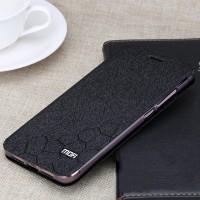 Чехол горизонтальная книжка подставка текстура Соты на силиконовой основе для Xiaomi Mi Max 2 Черный