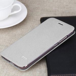 Чехол горизонтальная книжка подставка текстура Соты на силиконовой основе для Xiaomi Mi Max 2 Белый