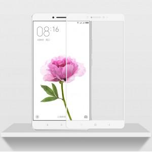 Полноэкранное ультратонкое износоустойчивое сколостойкое олеофобное защитное стекло-пленка для Xiaomi Mi Max 2 Белый