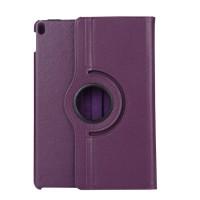 Роторный чехол книжка подставка на непрозрачной поликарбонатной основе для Ipad Pro 10.5 Фиолетовый