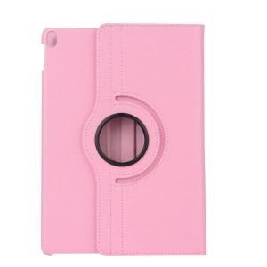 Роторный чехол книжка подставка на непрозрачной поликарбонатной основе для Ipad Pro 10.5 Розовый