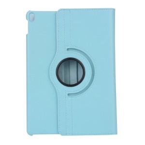 Роторный чехол книжка подставка на непрозрачной поликарбонатной основе для Ipad Pro 10.5 Голубой