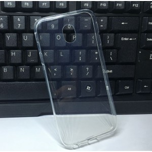 Силиконовый глянцевый транспарентный чехол для Samsung Galaxy J3 (2017)