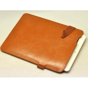 Кожаный мешок папка (иск. кожа) на резинке с держателем для стилуса для Ipad Pro 10.5 Бежевый