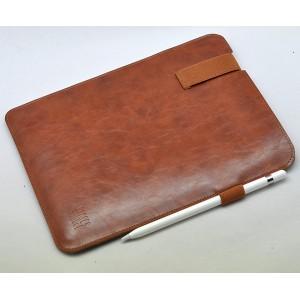 Кожаный мешок папка (иск. кожа) на резинке с держателем для стилуса для Ipad Pro 10.5 Коричневый