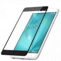Полноэкранное ультратонкое износоустойчивое сколостойкое олеофобное защитное стекло-пленка для Asus ZenFone 3 Zoom Черный