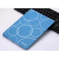Чехол книжка подставка текстура Узоры на транспарентной силиконовой основе для Ipad Pro 10.5 Синий
