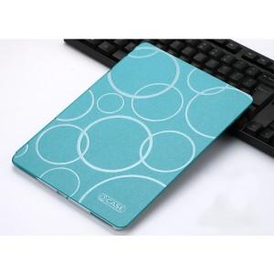 Чехол книжка подставка текстура Узоры на транспарентной силиконовой основе для Ipad Pro 10.5 Голубой