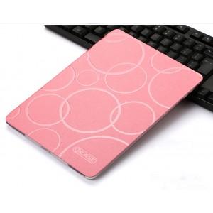 Чехол книжка подставка текстура Узоры на транспарентной силиконовой основе для Ipad Pro 10.5 Розовый