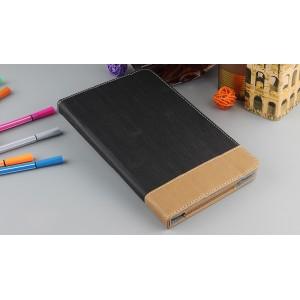 Сегментарный чехол книжка подставка текстура Линии с рамочной защитой экрана и крепежом для стилуса для Huawei MediaPad T3 8  Черный