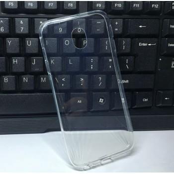 Силиконовый глянцевый транспарентный чехол для Samsung Galaxy J7 (2017)