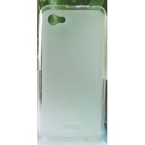 Силиконовый матовый полупрозрачный чехол для ZTE Blade A601 Белый