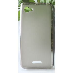 Силиконовый матовый полупрозрачный чехол для ZTE Blade A601 Серый