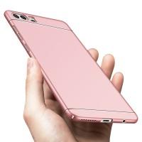 Пластиковый непрозрачный матовый чехол с улучшенной защитой элементов корпуса для Huawei Honor 9  Розовый