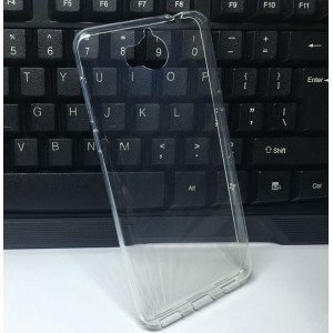 Силиконовый глянцевый транспарентный чехол для Huawei Y5 (2017)