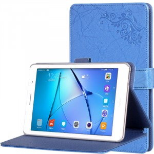 Чехол книжка подставка текстура Узоры на непрозрачной поликарбонатной основе с магнитной защелкой для Huawei MediaPad T3 8 Синий
