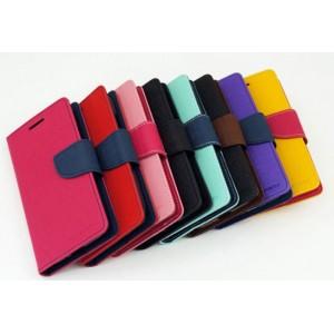 Чехол портмоне подставка на силиконовой основе с тканевым покрытием на дизайнерской магнитной защелке для HTC One X10