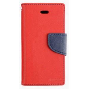 Чехол портмоне подставка на силиконовой основе с тканевым покрытием на дизайнерской магнитной защелке для HTC One X10  Красный
