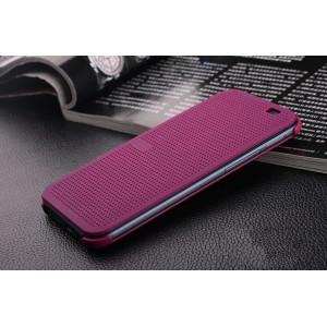 Точечный чехол флип с функциями оповещения для HTC Desire 830  Фиолетовый