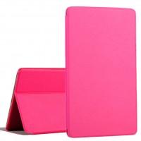 Чехол книжка подставка на непрозрачной поликарбонатной основе для Huawei MediaPad T3 10  Розовый