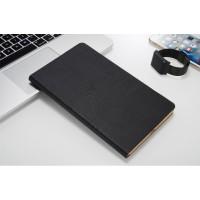 Чехол книжка подставка текстура Дерево на непрозрачной поликарбонатной основе для Huawei MediaPad T3 10 Черный