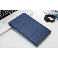 Чехол книжка подставка текстура Дерево на непрозрачной поликарбонатной основе для Huawei MediaPad T3 10 Синий