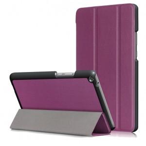 Сегментарный чехол книжка подставка на непрозрачной поликарбонатной основе для Huawei MediaPad T3 8 Фиолетовый