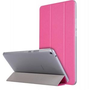 Сегментарный чехол книжка подставка текстура Золото на транспарентной поликарбонатной основе для Huawei MediaPad T3 8 Пурпурный