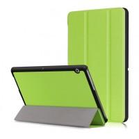 Сегментарный чехол книжка подставка на непрозрачной поликарбонатной основе для Huawei MediaPad T3 10  Зеленый