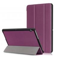 Сегментарный чехол книжка подставка на непрозрачной поликарбонатной основе для Huawei MediaPad T3 10  Фиолетовый