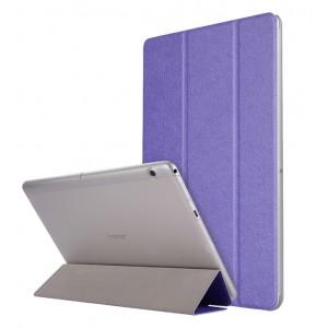 Сегментарный чехол книжка подставка текстура Золото на транспарентной поликарбонатной основе для Huawei MediaPad T3 10