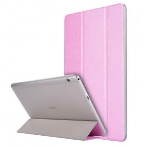 Сегментарный чехол книжка подставка текстура Золото на транспарентной поликарбонатной основе для Huawei MediaPad T3 10  Розовый