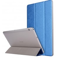 Сегментарный чехол книжка подставка текстура Золото на транспарентной поликарбонатной основе для Huawei MediaPad T3 10  Синий