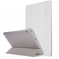 Сегментарный чехол книжка подставка текстура Золото на транспарентной поликарбонатной основе для Huawei MediaPad T3 10  Белый