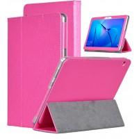 Сегментарный чехол книжка подставка текстура Золото с рамочной защитой экрана для Huawei MediaPad T3 10  Пурпурный