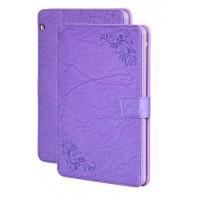 Чехол книжка подставка текстура Узоры на непрозрачной поликарбонатной основе и с магнитной защелкой для Huawei MediaPad T3 10 Фиолетовый