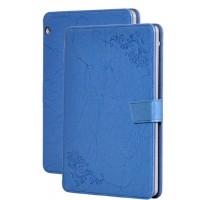 Чехол книжка подставка текстура Узоры на непрозрачной поликарбонатной основе и с магнитной защелкой для Huawei MediaPad T3 10 Синий